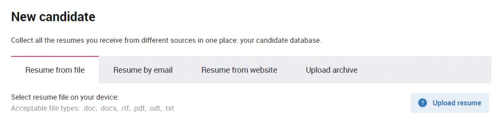 Add candidate
